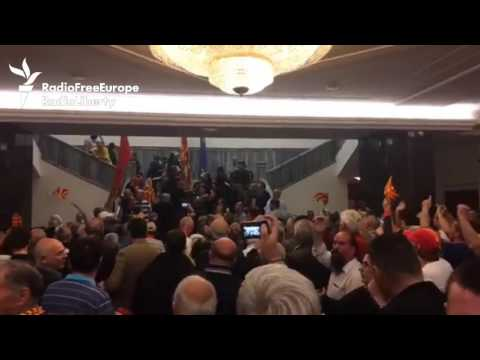 Macedonian Protesters Storm Parliament