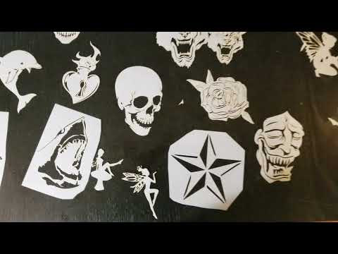 New body art ink and Airbrush Tattoo stencil series