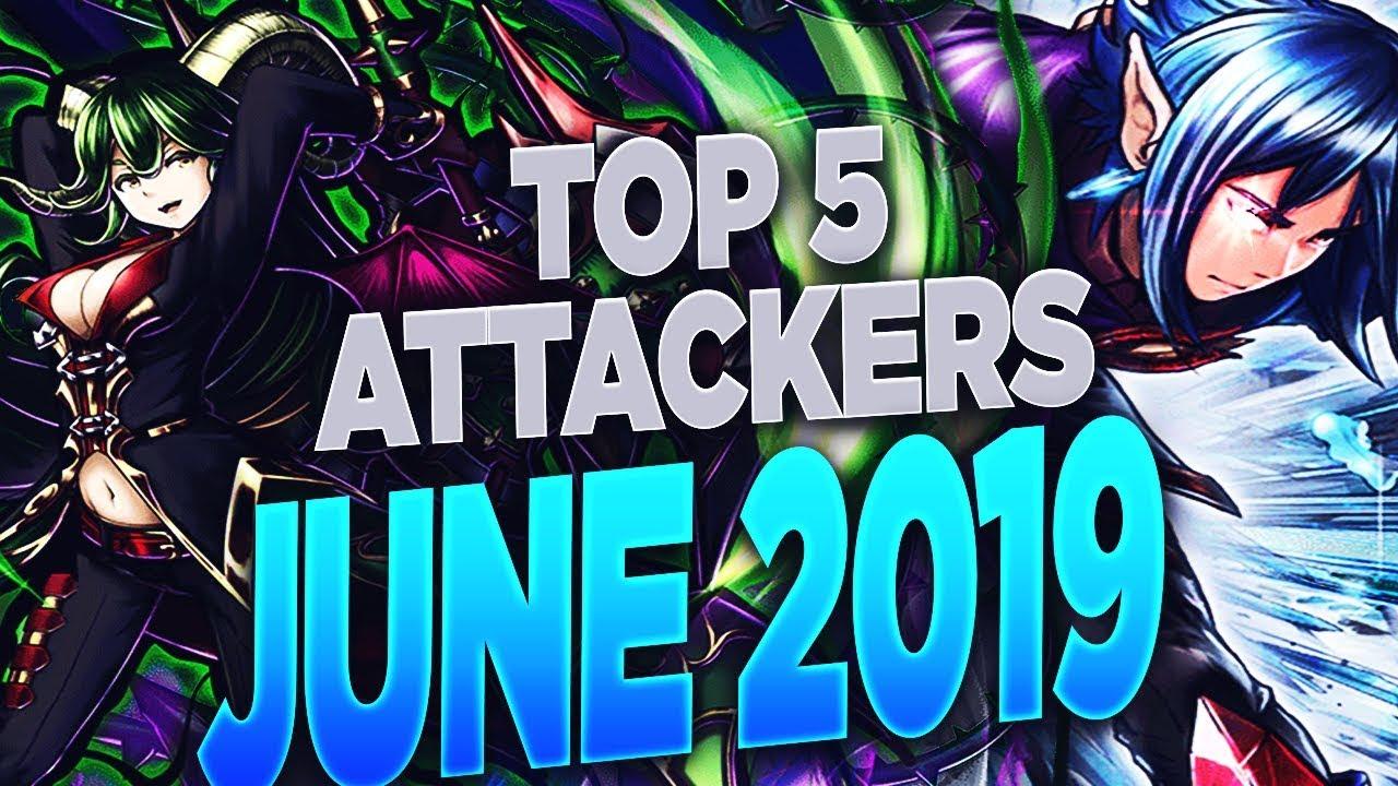 Grand Summoners - Top 5 attackers June 2019