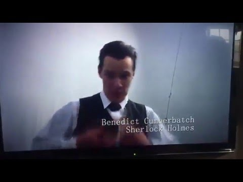 Benedict Cumberbatch stripping for Mark Gatiss.