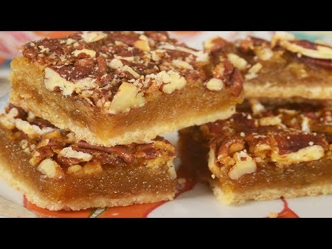 Pecan Squares Recipe Demonstration - Joyofbaking.com