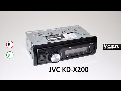 Обзор автомагнитолы JVC KD-X200