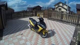 Путешествие на скутере до дачи. Поездка на китайском скутере 50cc.(Впечатления от поездки на китайском 50cc скутере на дачу 30 апреля 2016 г. Общее время в дороге чуть менее 4-х..., 2016-06-04T17:06:51.000Z)