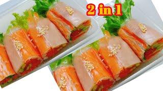 สลัดโรลปูอัด ห่อแบบใหม่ได้ ไอเดียสลัดโรลทำขาย พร้อมสูตรน้ำสลัดแซ่บ #ทำอะไรขาดีEP.86 Crab Sticks Roll