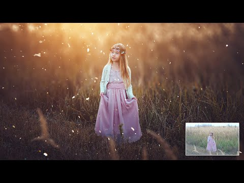 OUTDOOR PHOTO EDITING IN PHOTOSHOP - CHILD PHOTO EDITING - FREE PRESET