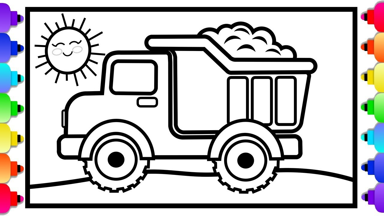 - Toy Dump Truck Coloring And Drawing For Kids 🚧🚚❤ Dump Truck