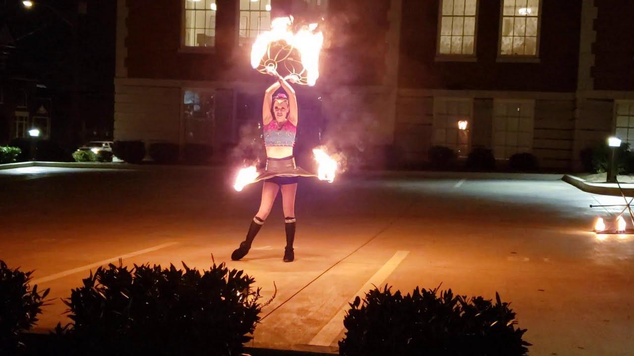 Nutcracker Sugar Plum Fairy Fire Performance Show