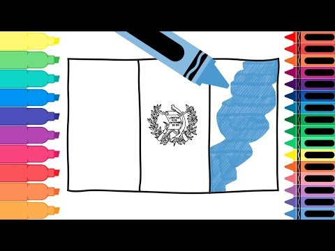 How to Draw Guatemala Flag - Drawing the Guatemalan Flag - Coloring Pages for Kids | Tanimated Toys