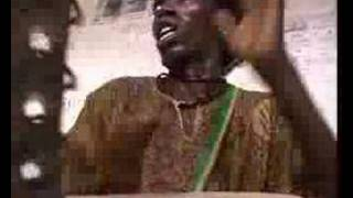 Iboo Faye Djembe and sabar player, griot from Senegal