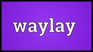 Waylay Meaning