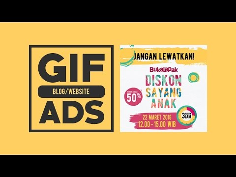 How To Make A GIF Animation For Blog Or Website Ads ~ Photoshop Tutorial