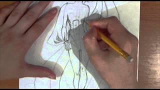 Разбивка фешн эскиза на мышцы. Видеоурок по рисованию Анны Кошкиной.