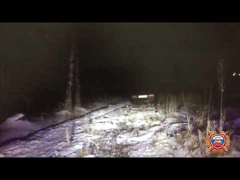 В Тверской области пьяная компания пыталась скрыться на машине от гаишников