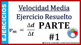 Ejercicios Resueltos de Velocidad Media No.1