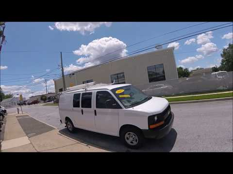 2005 White /Gray Chevrolet Express 1500 Cargo (1GCFG15X651) with an 4.3L V6 OHV 12V engine, 4-Speed Automatic Overdrive transmission, located at 577 Chester Pike, Prospect Park, PA, 19076, (610) 237-1015, 39.886154, -75.302338 - Photo #0