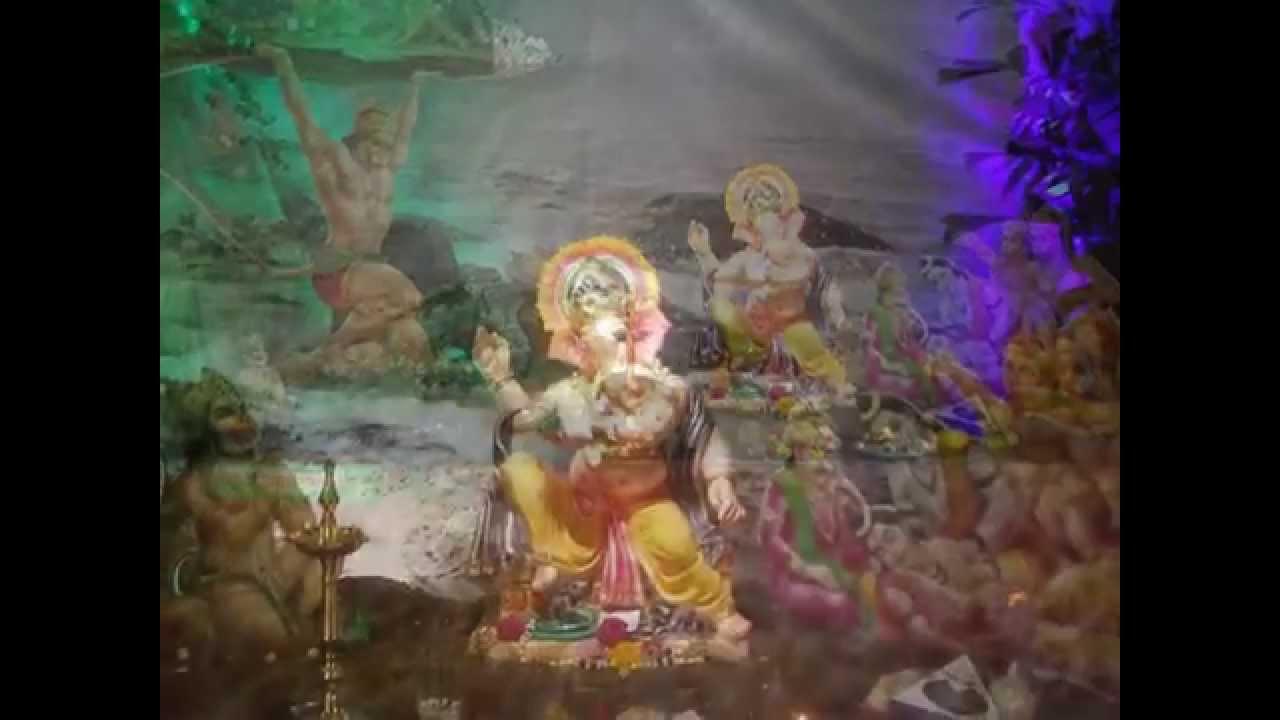 Home Ganpati Decoration Mahesh Phatkare Palseth