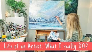 ARTIST VLOG | Pricing Artwork, Painting with Acrylics & Garden Centre FUN!
