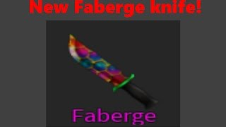 (ROBLOX) ASSASSIN! NEW FABERGE KNIFE! Roblox knife!
