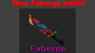 (ROBLOX) assassin! NOUVEAU FABERGE KNIFE! Couteau Roblox !