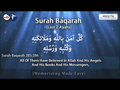 Surah Baqarah Last 2 Verses]Sheikh Ziyad PatelMemorizing