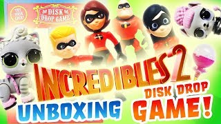 Incredibles 2 LOL Surprise Dolls Unboxing Disk Drop Game with LOL Surprise Pets and Pikmi Pops!