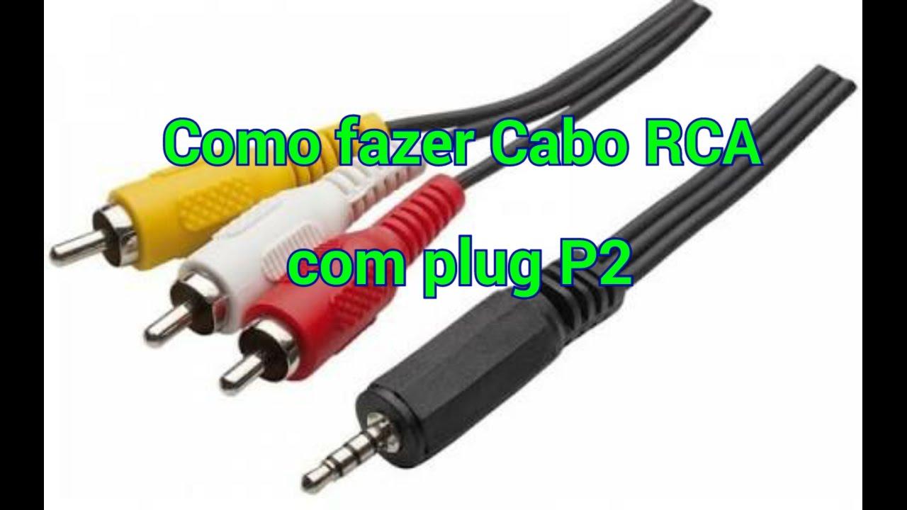 Como Fazer Cabo Rca Com Plug P2 Youtube