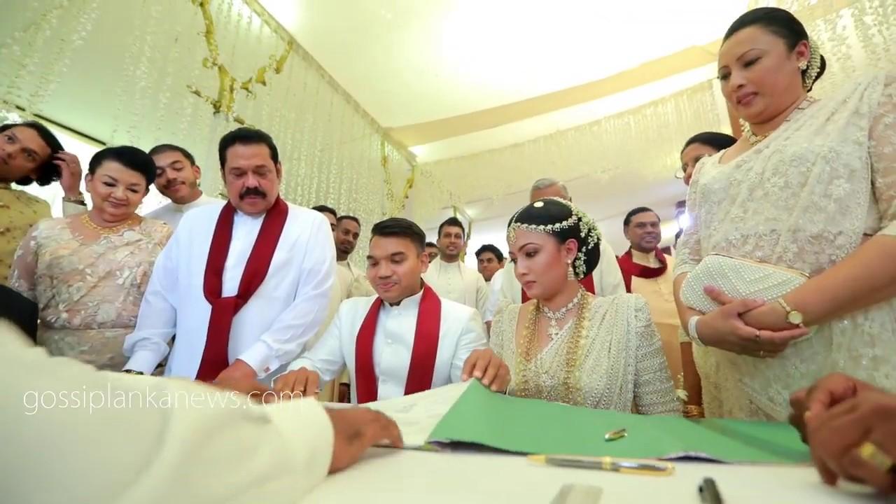 Namal Rajapaksa Wedding - YouTube