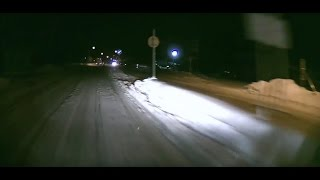 雪道スリップ スピン寸前~立て直し / Ice And Snow Slip and Slide and Car Crash Winter Weather