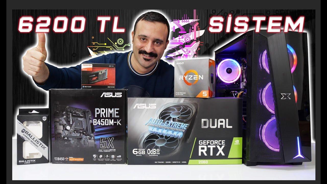 6200 TL Bütçe İle Canavar Gibi RTX 2060 Oyun Bilgisayarı