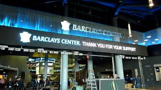 Walking into new Brooklyn Nets Barclays Center basketball arena