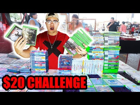 THE $20 FLEA MARKET CHALLENGE!! **EPIC STEALS**