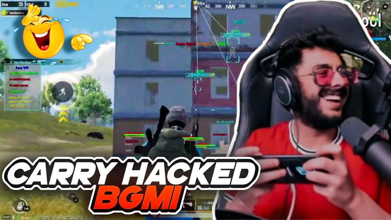 Carry Hacked BGMI On Live Stream 😁😁 || Carry Highlight ||
