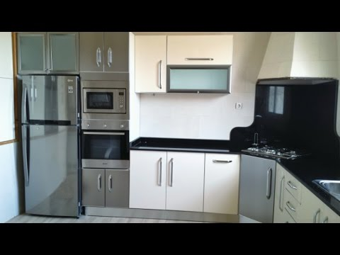 cuisine moderne beige m tal youtube. Black Bedroom Furniture Sets. Home Design Ideas