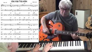How High The Moon - Jazz guitar & piano cover ( Morgan Lewis )