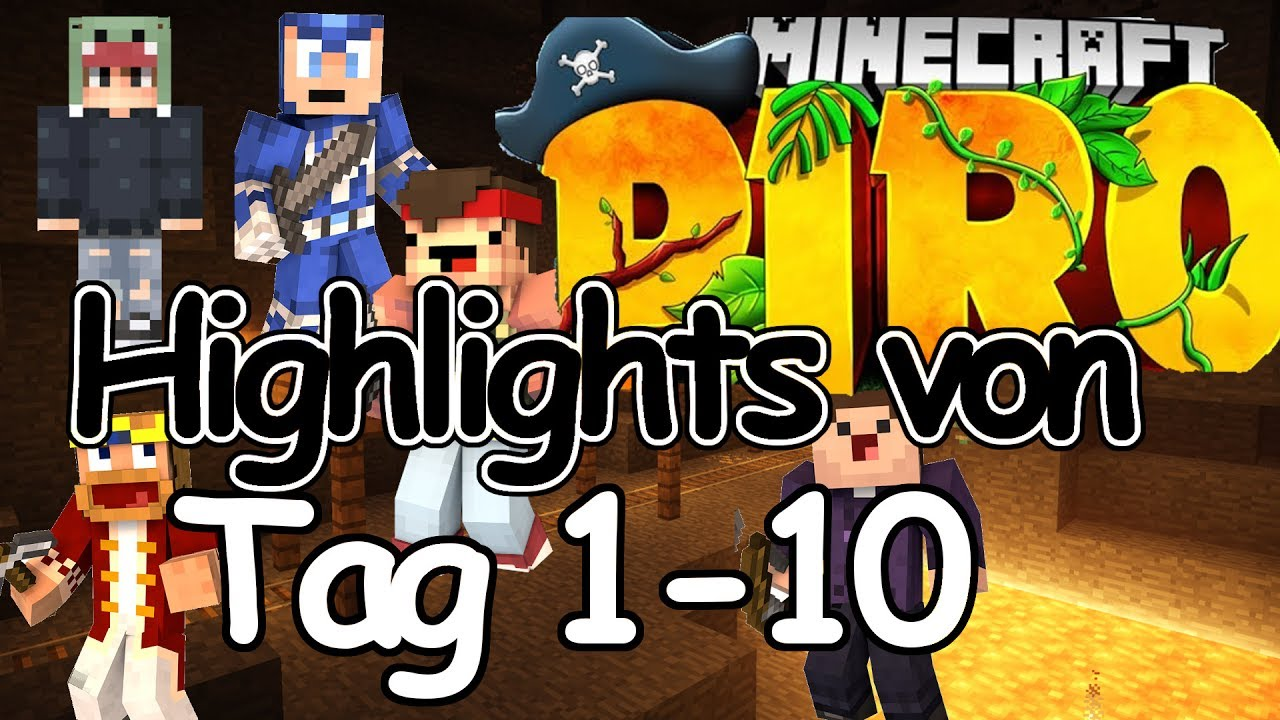 Minecraft Piro Highlights von Tag 1-10 - alle Tode - MPZ