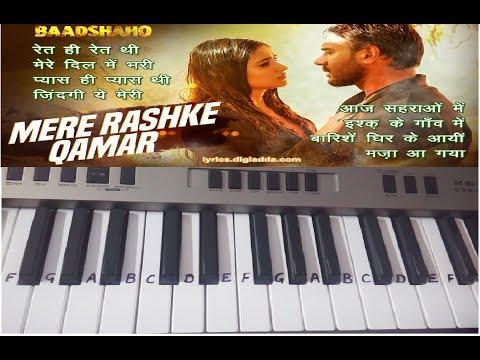 Mere Rashke Qamar|Harmonium Tutorial| Keyboard Tutorial|Slow Lesson|Easy Play|