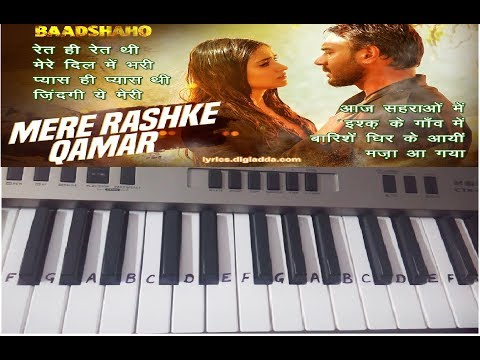 Mere Rashke Qamar on Keyboard-Casio-Piano- Slow Version tutorial