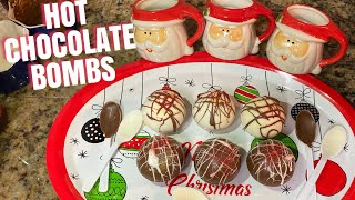 HOT CHOCOLATE BOMBS EASY RECIPE  FIRST GIVEAWAY