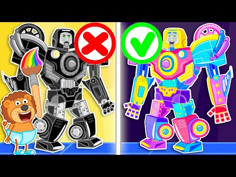 Lion Family Official Channel 🤖 Iron Robot #12. Rainbow Transformer | Cartoon For Kids
