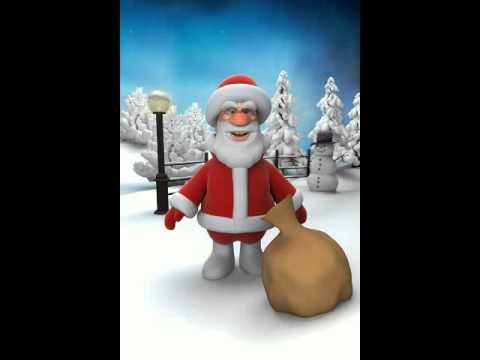 Talking Santa mot con vit