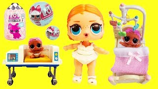 LOL Surprise Dolls Baby Hospital, Morning Work and School Routine & Unboxings with Playmobil Sets!