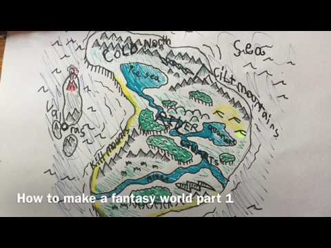 How to make a fantasy world part 1drawing map youtube how to make a fantasy world part 1drawing map gumiabroncs Images