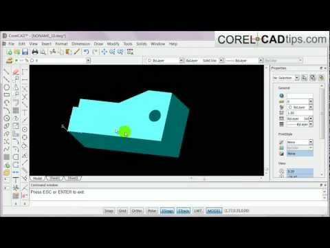 CorelCAD – Drawing 3D using weld, unify and subtract tool