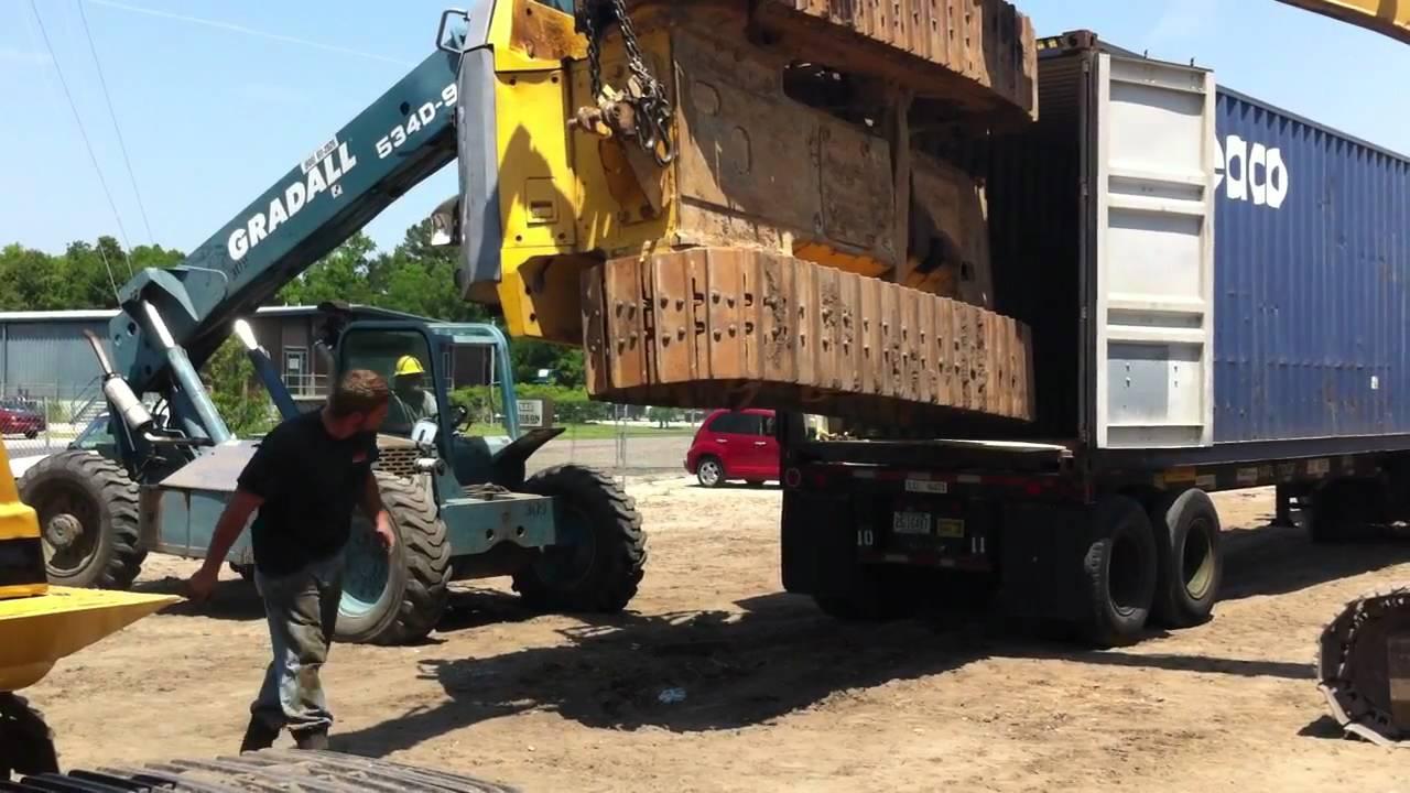Load Komatsu D65 Bulldozer Into A 40 Foot Container Big
