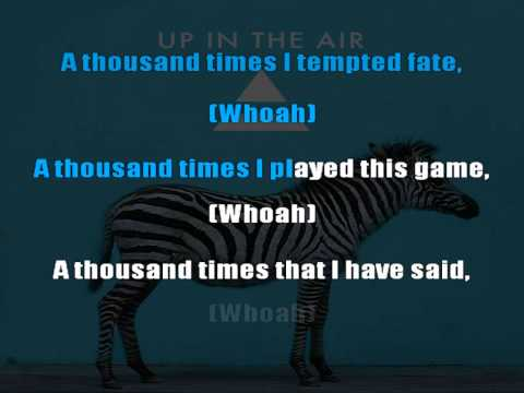 30 Seconds To Mars - Up In The Air karaoke