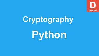 Cryptography Module Python