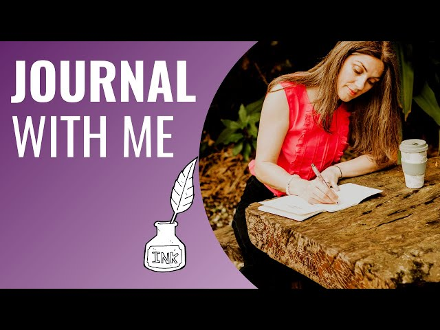 JOURNAL WITH ME REAL TIME NO MUSIC | Journaling is good for anxiety (so journal with me)