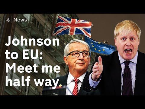 Boris Johnson asks EU to meet him halfway on Brexit