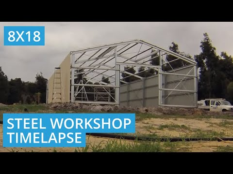 8m X 18m Steel Workshop Shed Build in Chittering, WA 6084