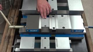 Kurt Double Station Hydraulic Vise Operation